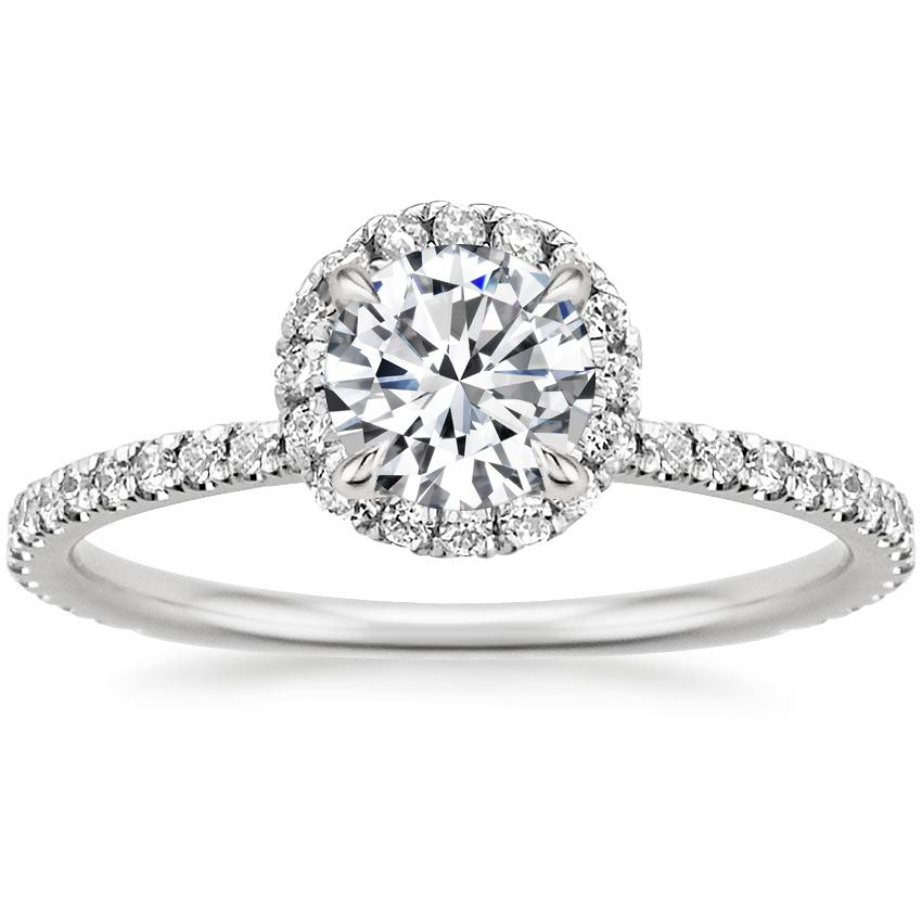 18K White Gold Waverly Diamond Ring (1/2 ct. tw.), top view