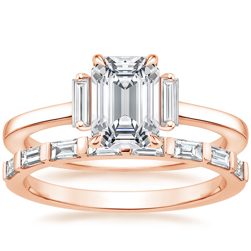 14K Rose Gold Piper Diamond Ring with Barre Diamond Ring (1/4 ct. tw.)