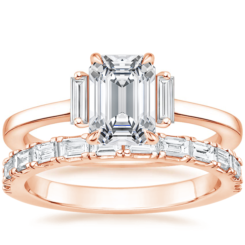14K Rose Gold Piper Diamond Ring with Gemma Diamond Ring (1/2 ct. tw.)