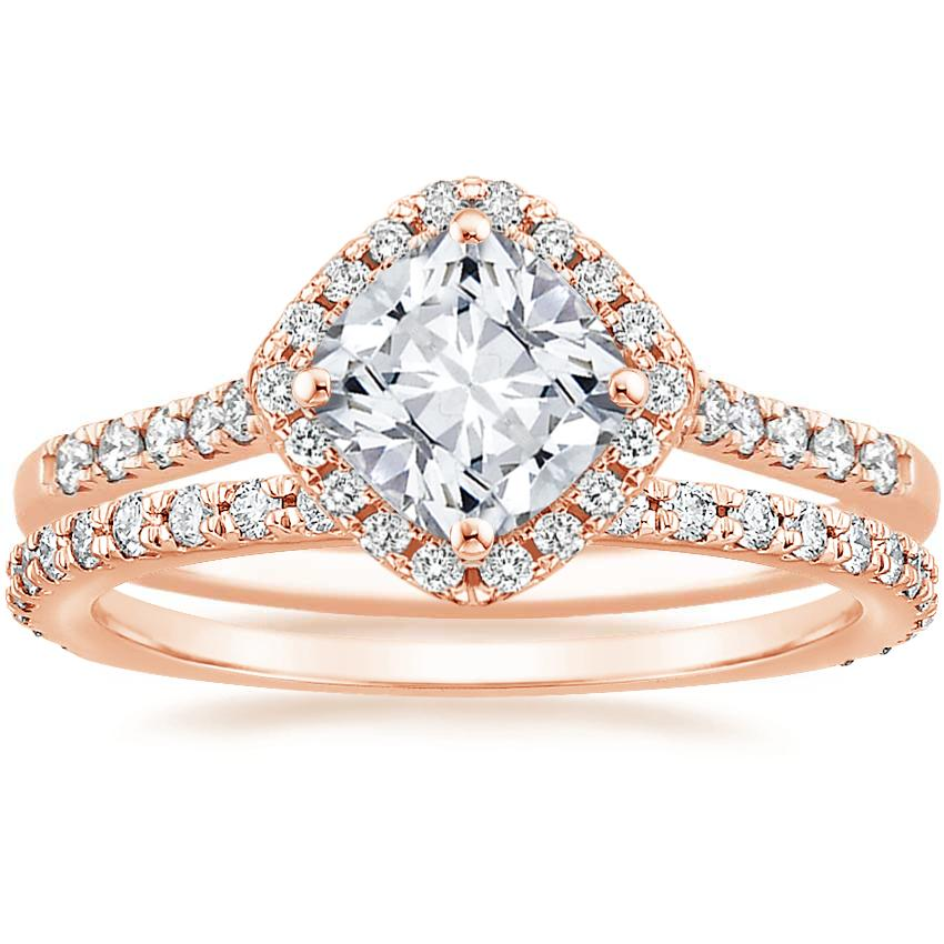 14K Rose Gold Cometa Diamond Ring with Luxe Sonora Diamond Ring (1/4 ct. tw.)