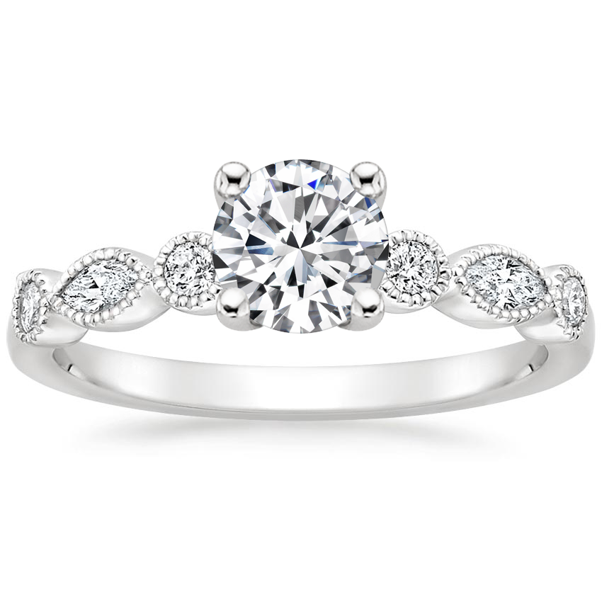 Round Platinum Rosalie Diamond Ring (1/4 ct. tw.)