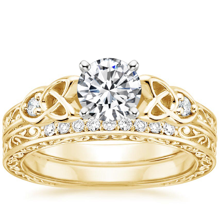 18K Yellow Gold Aberdeen Diamond Bridal Set