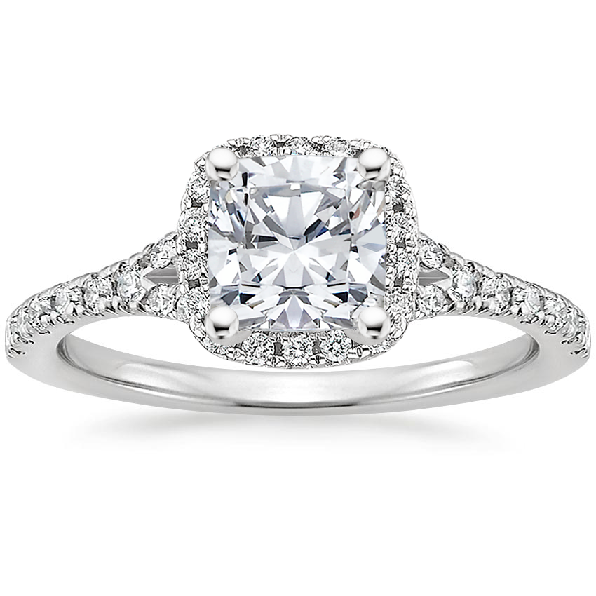Cushion Platinum Joy Diamond Ring (1/3 ct. tw.)