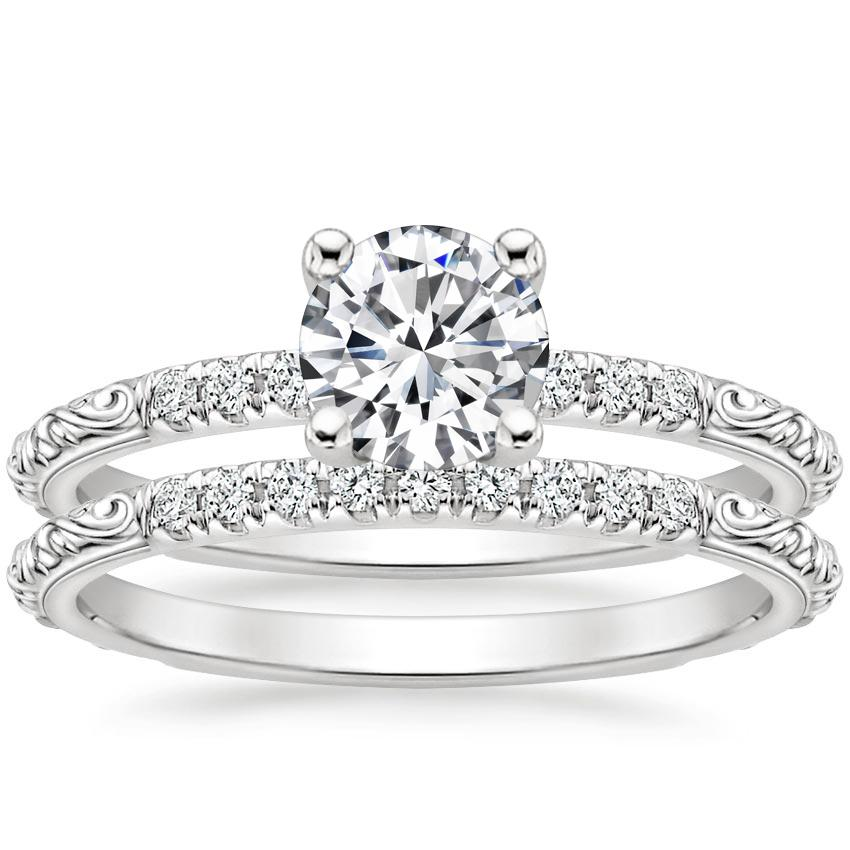 18K White Gold Adeline Diamond Bridal Set