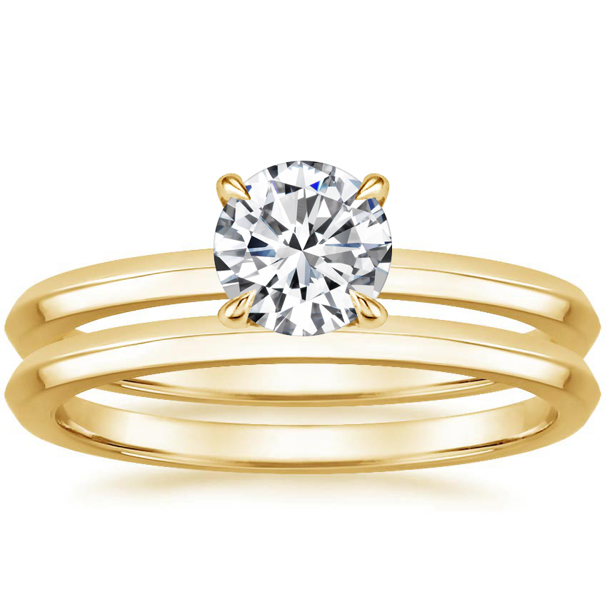 18K Yellow Gold Hazel Bridal Set