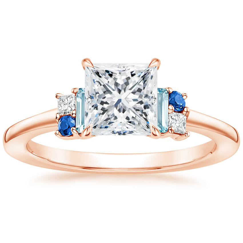 Princess 14K Rose Gold Mazarine Ring