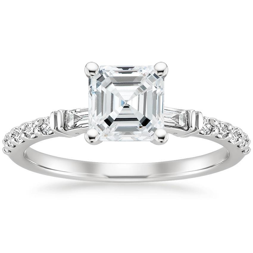 Asscher Platinum Regency Diamond Ring (1/4 ct. tw.)