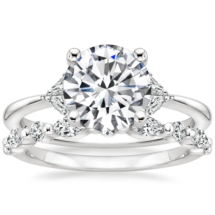 Platinum Faye Diamond Ring with Versailles Diamond Ring (3/8 ct. tw.)