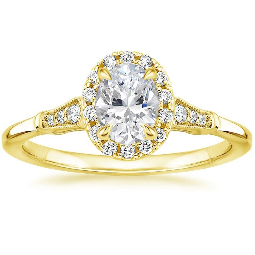 Oval 18K Yellow Gold Linden Diamond Ring