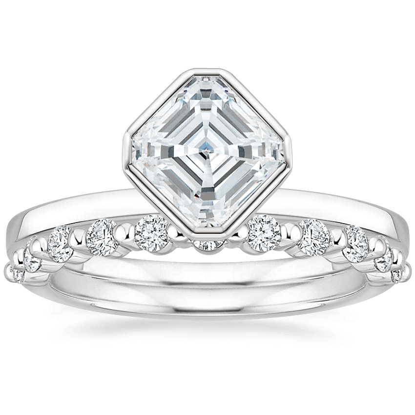 18K White Gold Cielo Ring with Marseille Diamond Ring (1/3 ct. tw.)