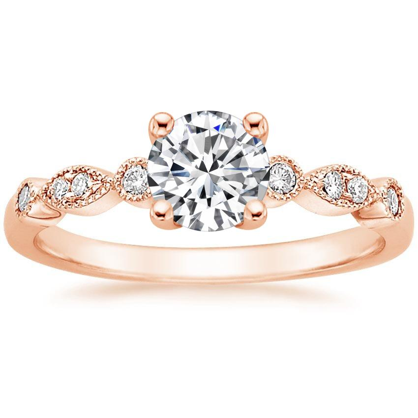 Round Vintage Diamond Engagement Ring