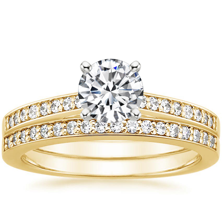 18K Yellow Gold Starlight Diamond Bridal Set (1/4 ct. tw.)