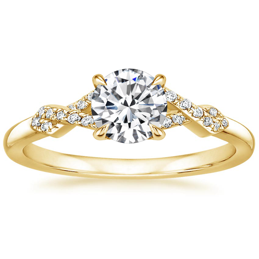 Round 18K Yellow Gold Vera Diamond Ring