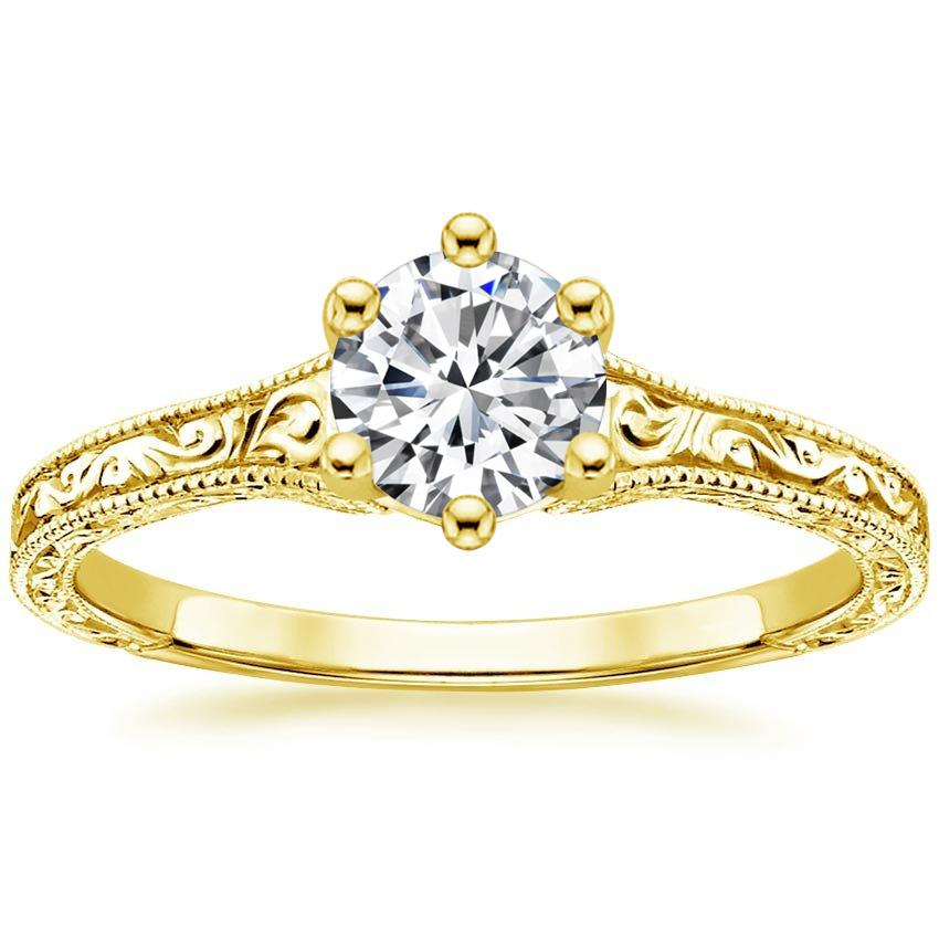 Round 18K Yellow Gold Hudson Ring