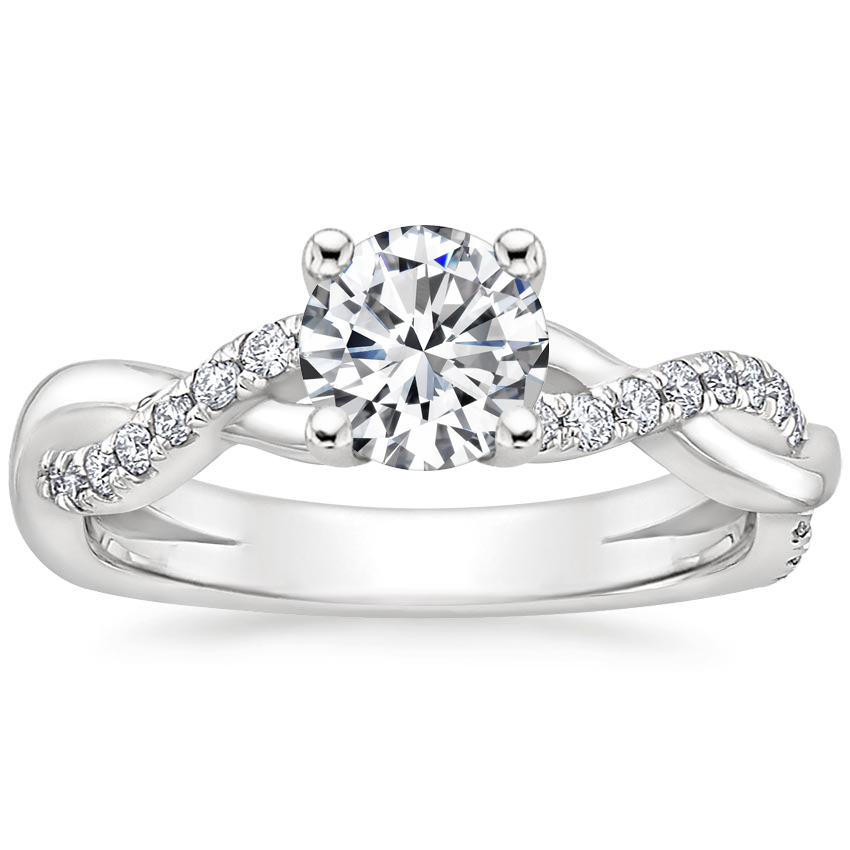 Round Braided Vine Diamond Ring