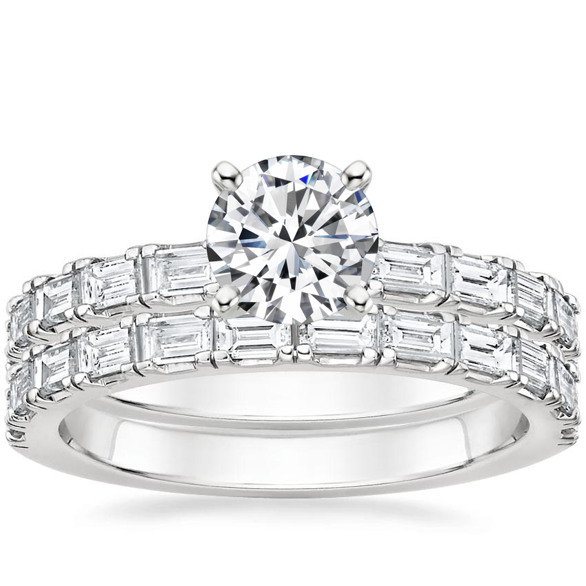 18K White Gold Gemma Diamond Bridal Set