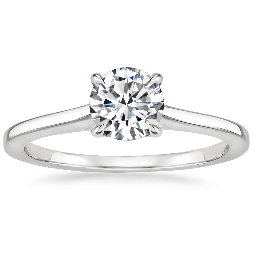 Round 18K White Gold Provence Ring
