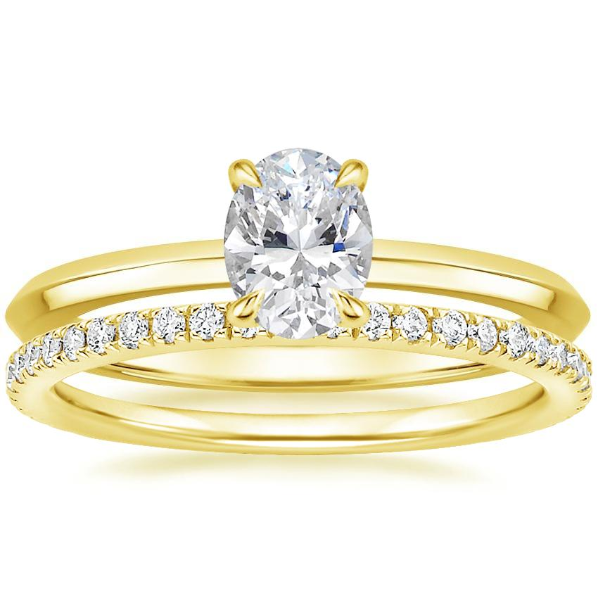 18K Yellow Gold Hazel Ring with Luxe Ballad Diamond Ring (1/4 ct. tw.)