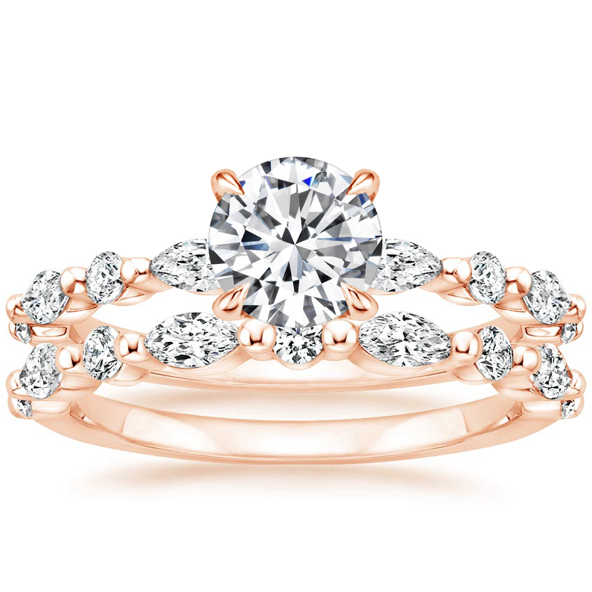 14K Rose Gold Versailles Diamond Bridal Set (3/4 ct. tw.)