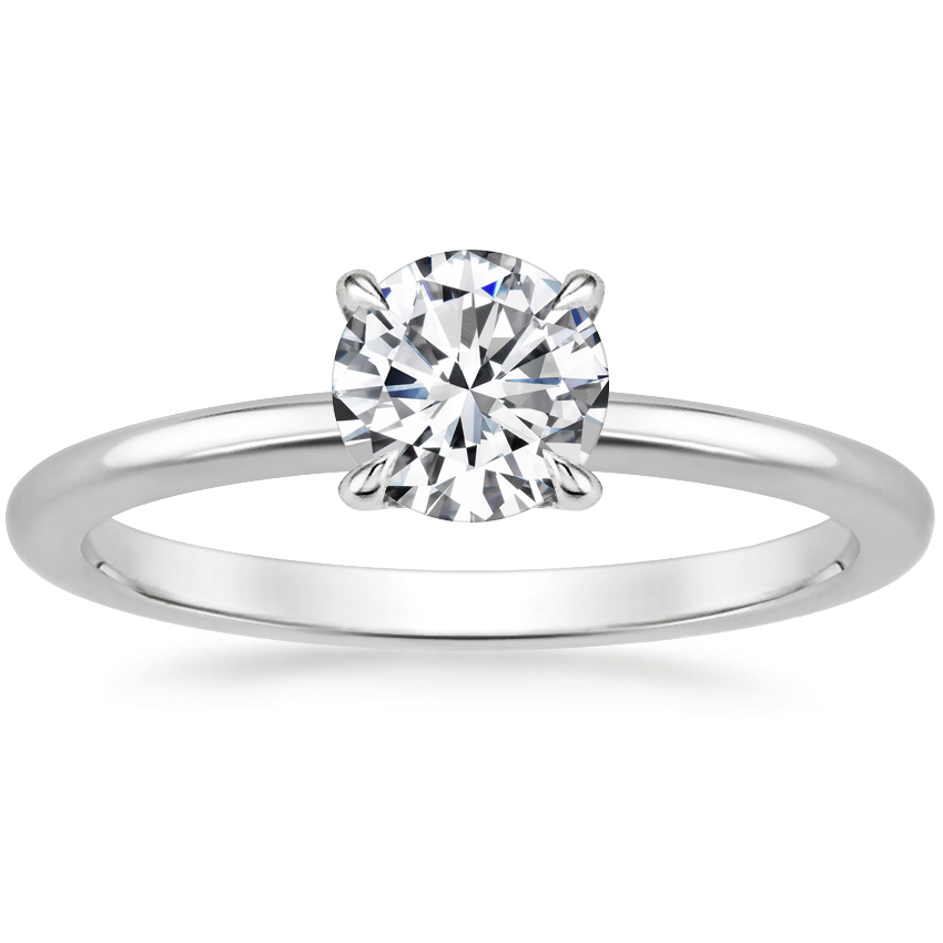 Round Petite Solitaire Engagement Ring