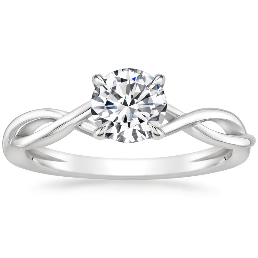 Round Open Twist Engagement Ring