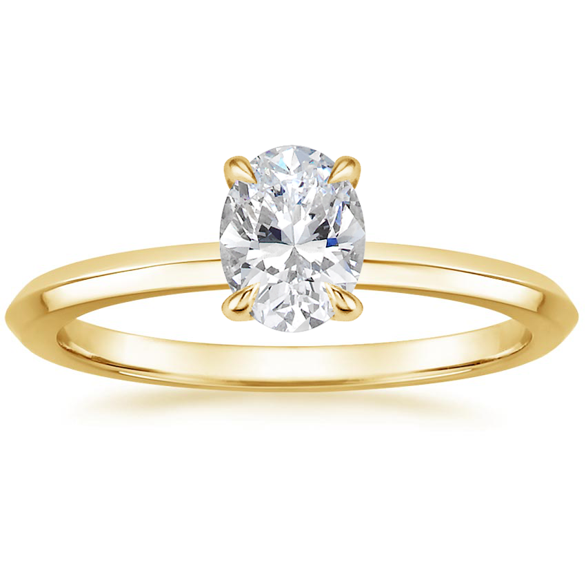 Oval Delicate Knife Edge Engagement Ring