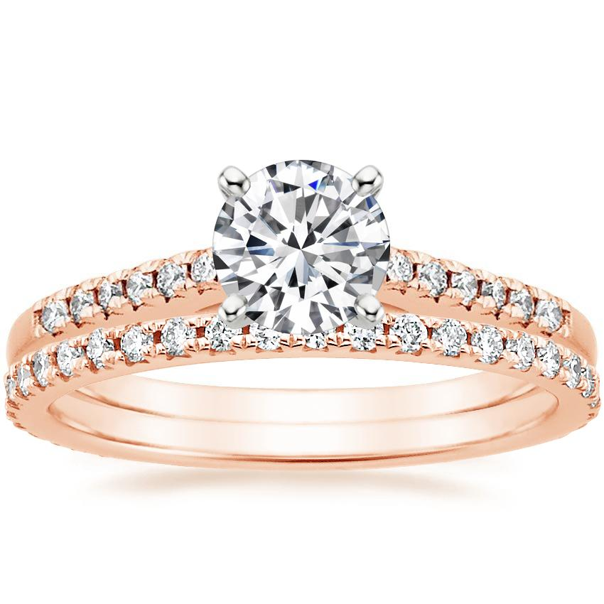 14K Rose Gold Sonora Diamond Ring with Sonora Eternity Diamond Ring (3/8 ct. tw.)