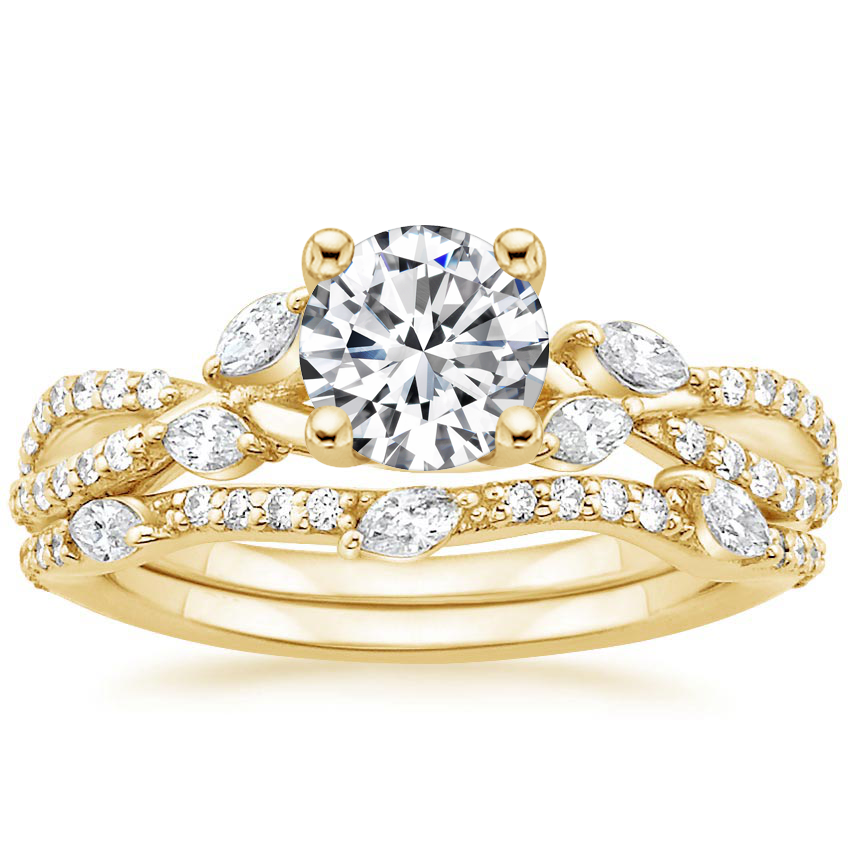 18K Yellow Gold Luxe Willow Bridal Set (1/2 ct. tw.)