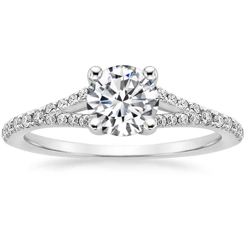 Round Split Shoulder Diamond Ring