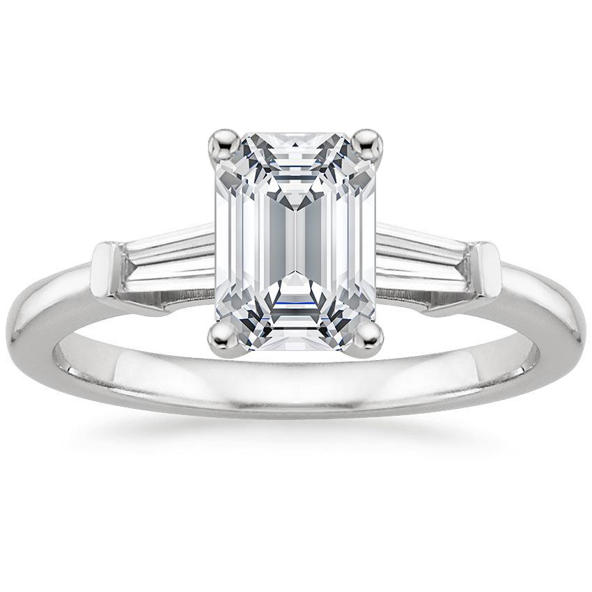 Top Twenty Engagement Rings - TAPERED BAGUETTE DIAMOND RING