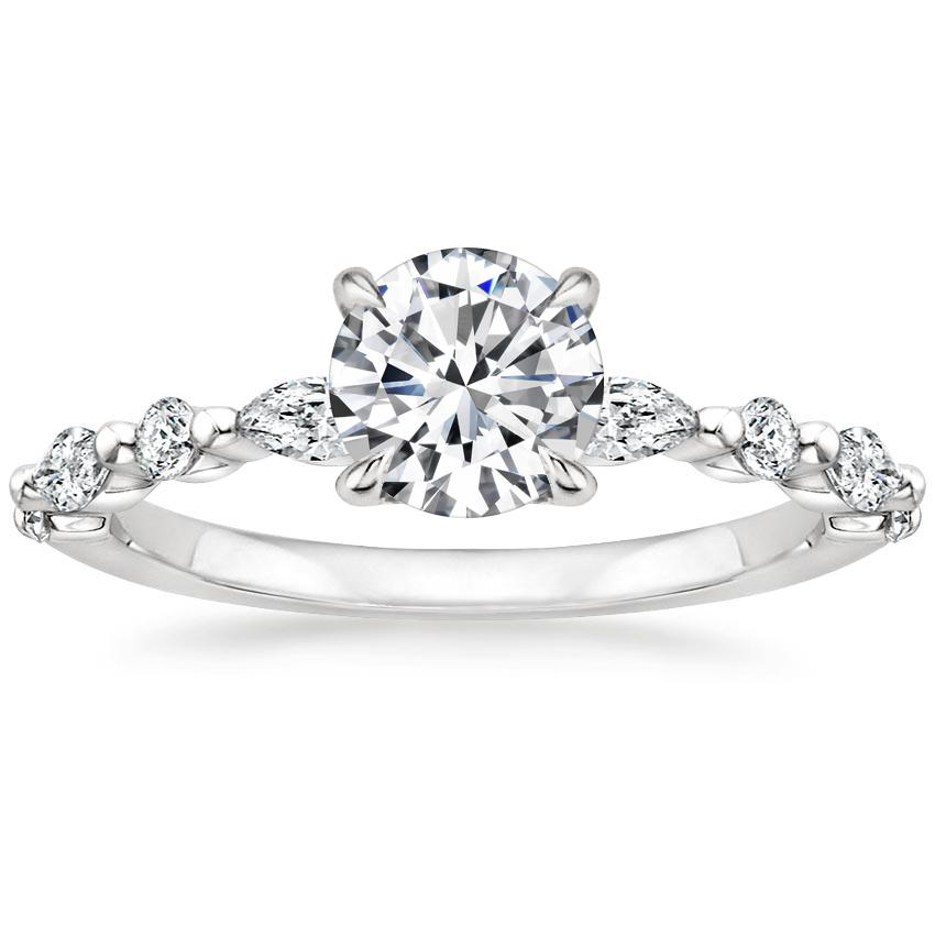 Round Platinum Versailles Diamond Ring (1/3 ct. tw.)