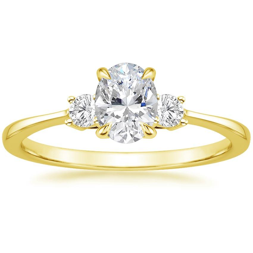 Oval 18K Yellow Gold Selene Diamond Ring