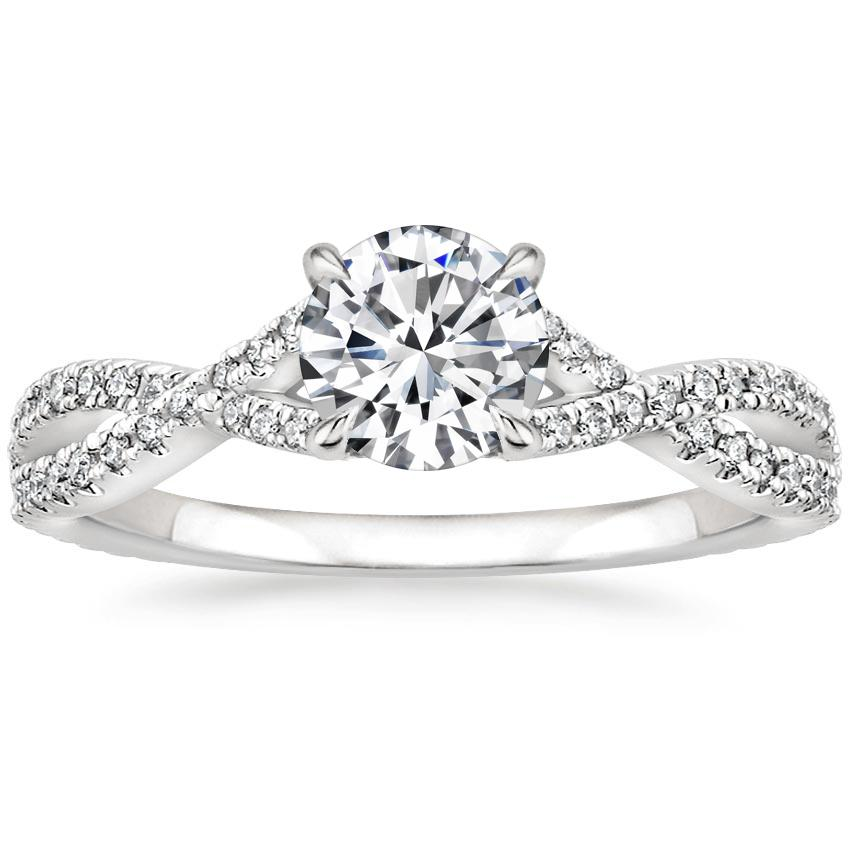 Round Twisting Engagement Ring