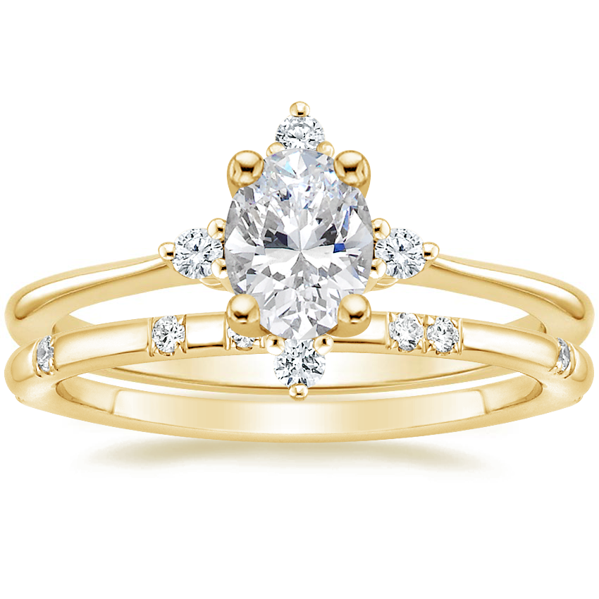 18K Yellow Gold Luminesce Diamond Ring with Astra Diamond Ring