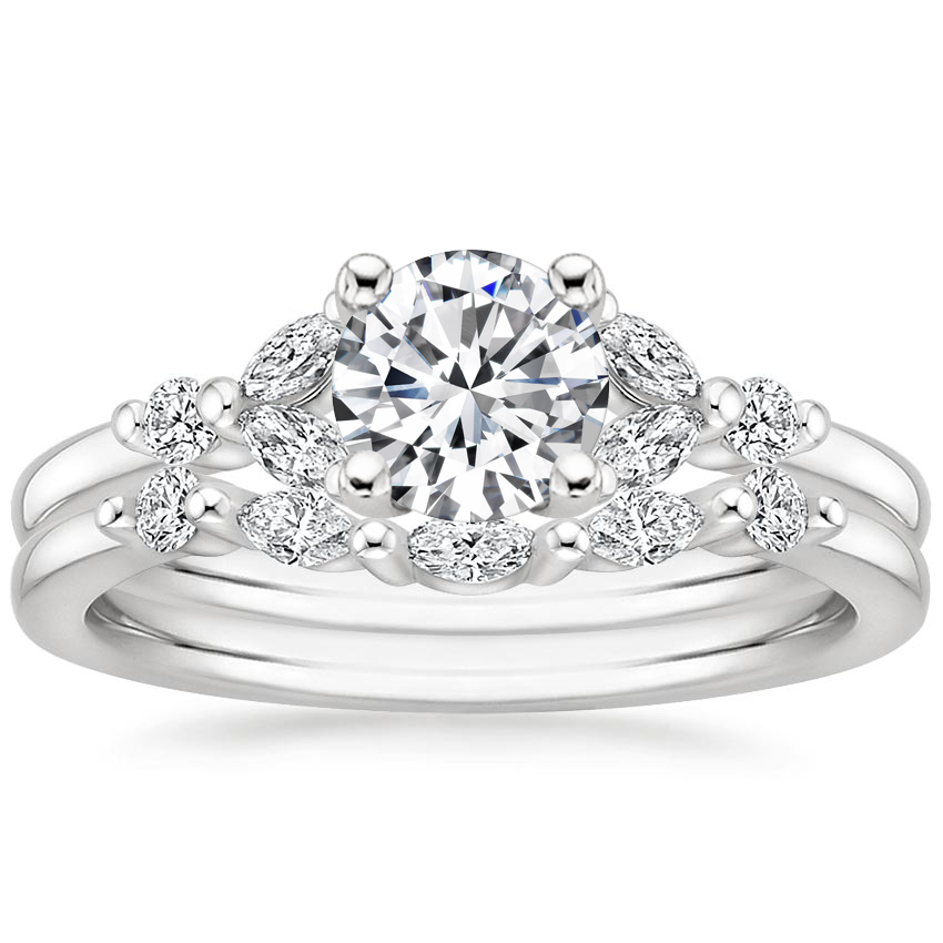18K White Gold Verbena Diamond Bridal Set (1/4 ct. tw.)