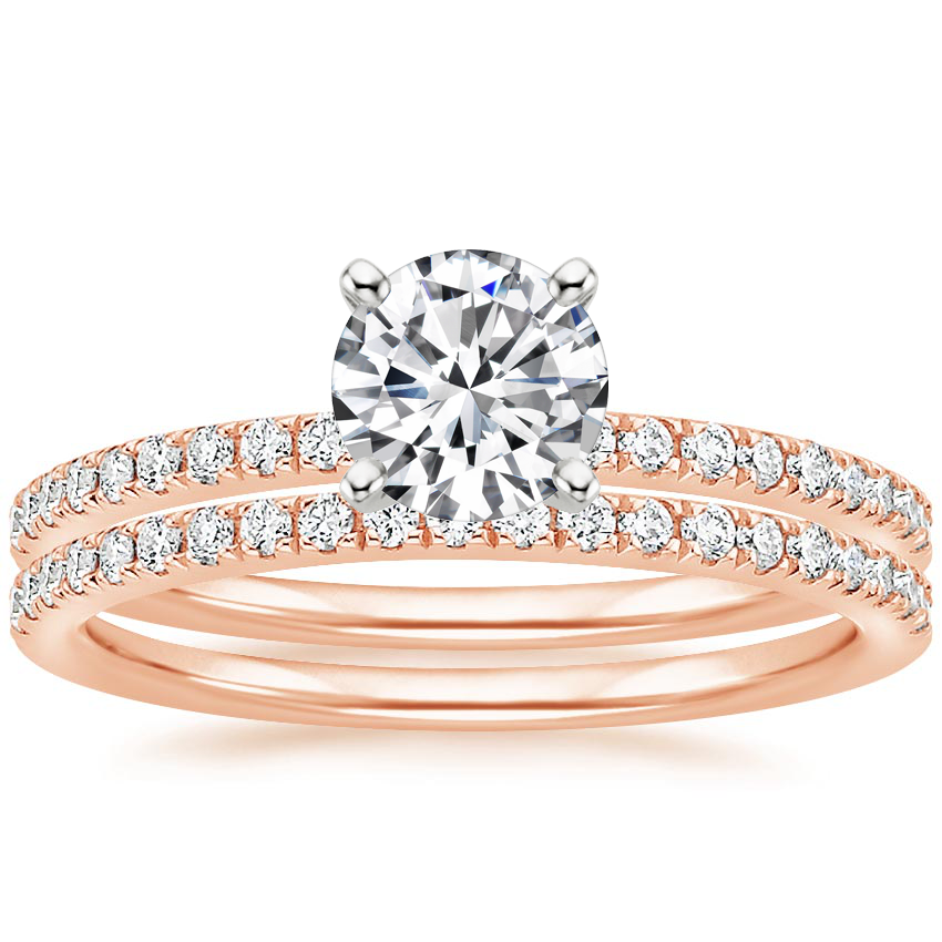 14K Rose Gold Ballad Diamond Bridal Set (1/3 ct. tw.)
