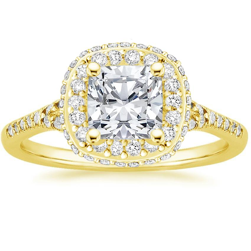 Cushion 18K Yellow Gold Circa Diamond Ring (1/2 ct. tw.)