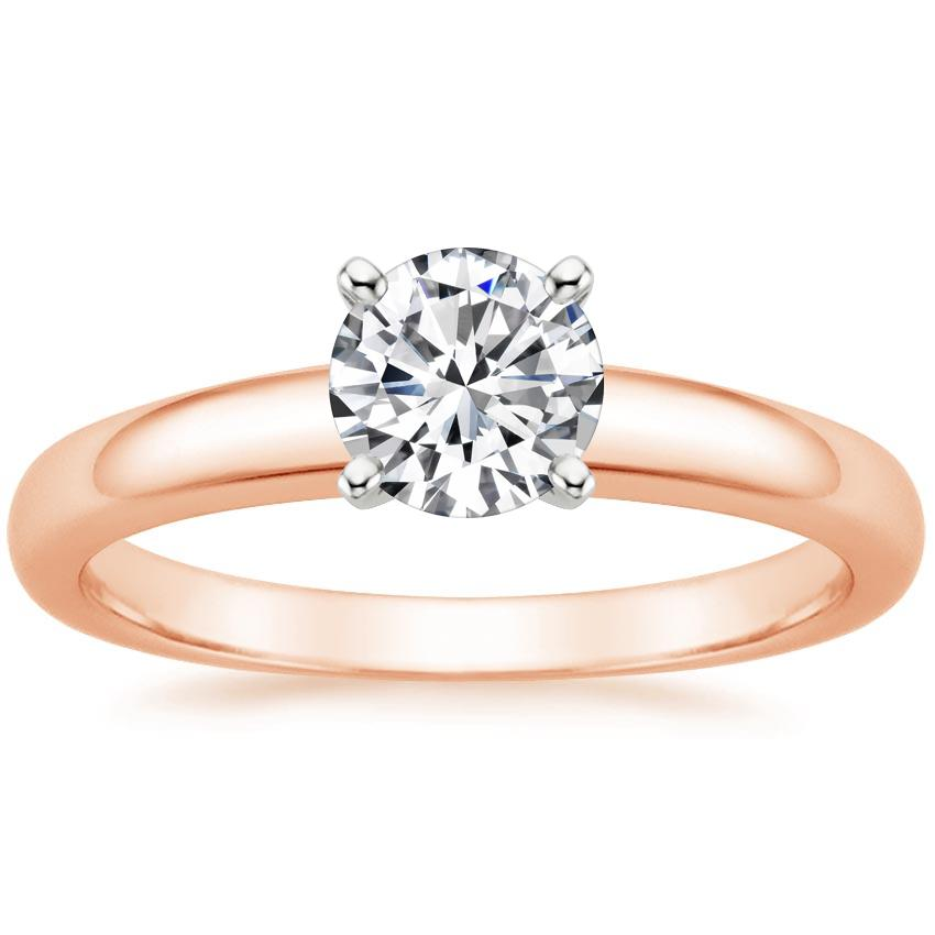 14K Rose Gold 3mm Comfort Fit Ring, top view