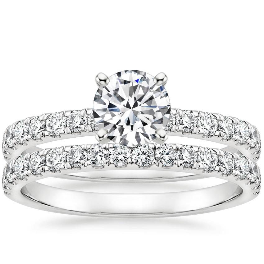 18K White Gold Constance Diamond Bridal Set
