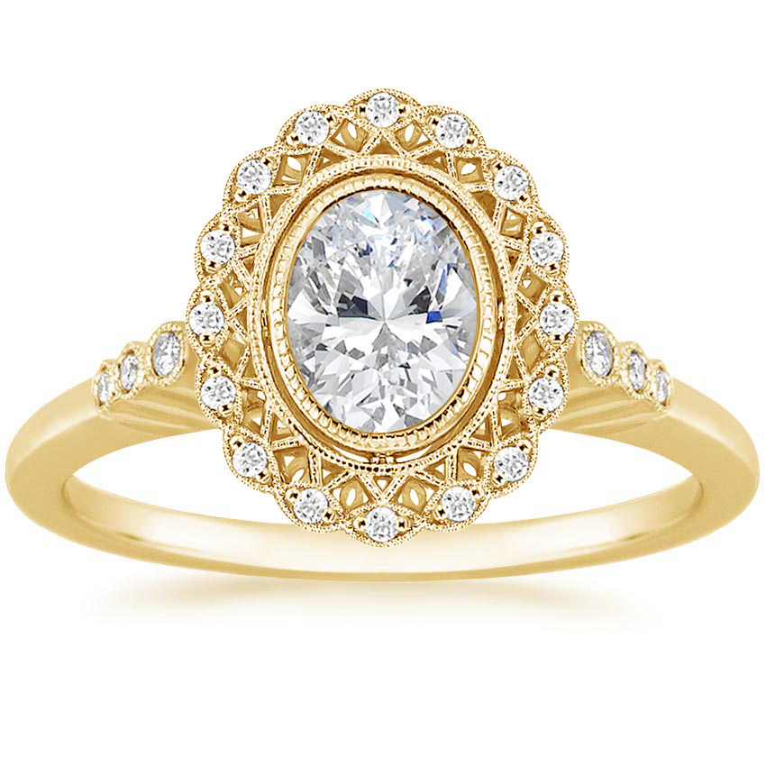 Oval 18K Yellow Gold Alvadora Diamond Ring