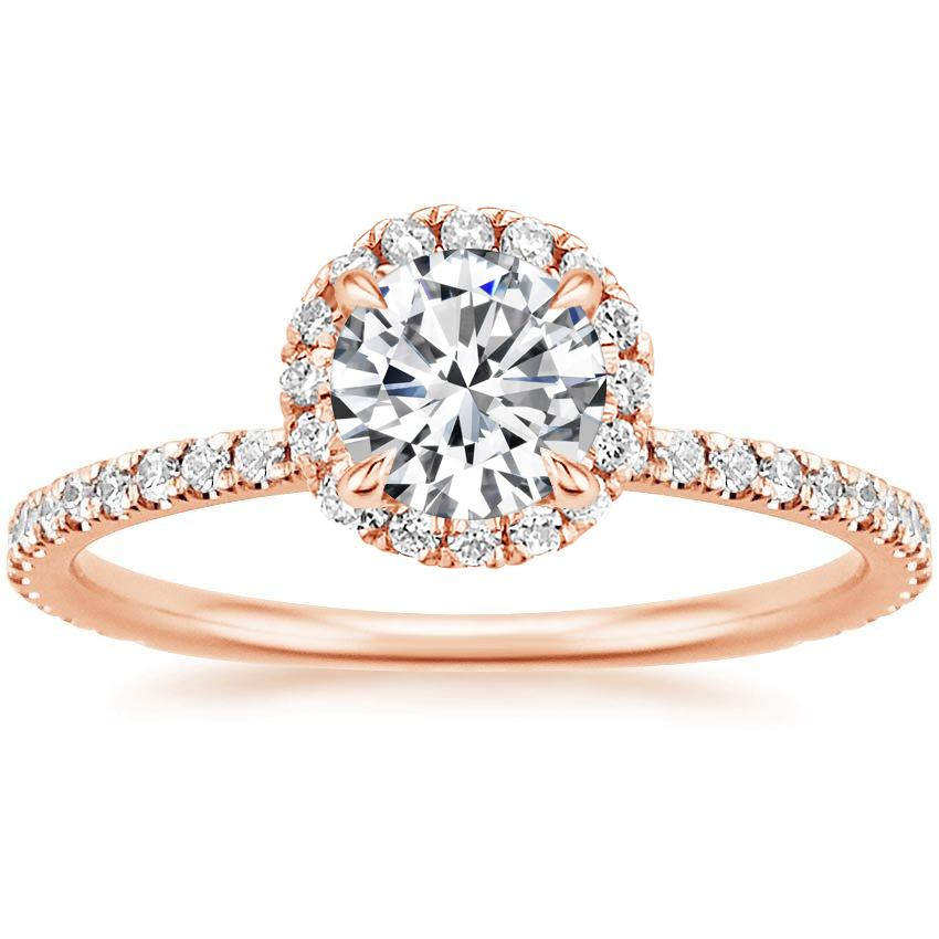 14K Rose Gold Waverly Diamond Ring (1/2 ct. tw.), top view