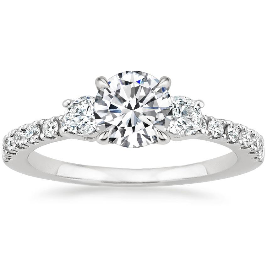 Round Platinum Radiance Diamond Ring (1/3 ct. tw.)