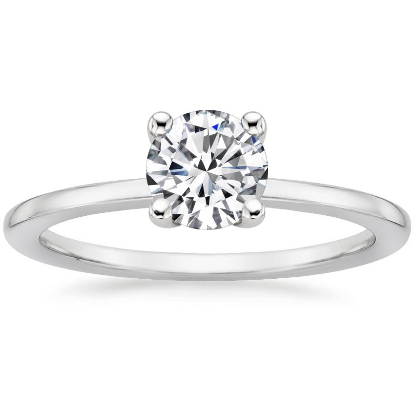 Round Hidden Diamond Halo Engagement Ring