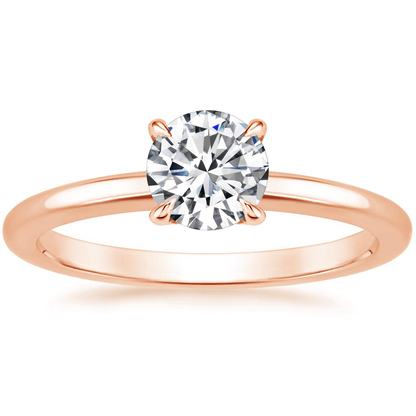 Round 14K Rose Gold Elodie Ring