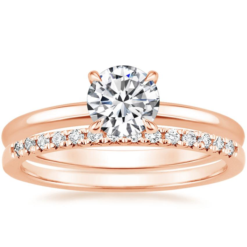 14K Rose Gold Elodie Ring with Sonora Diamond Ring (1/8 ct. tw.)