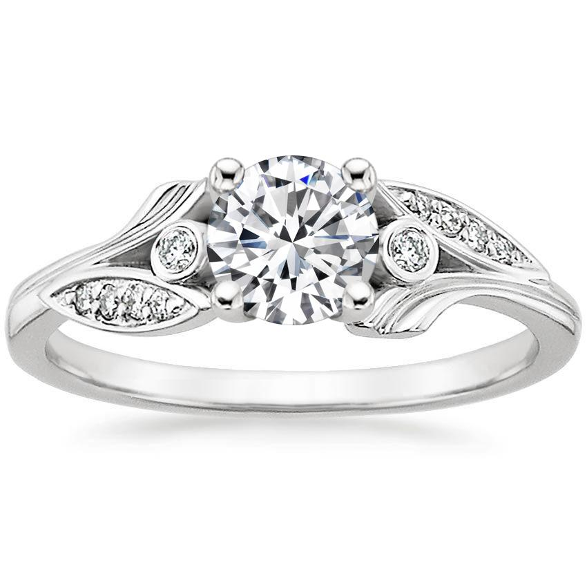 Platinum Jasmine Diamond Ring, top view