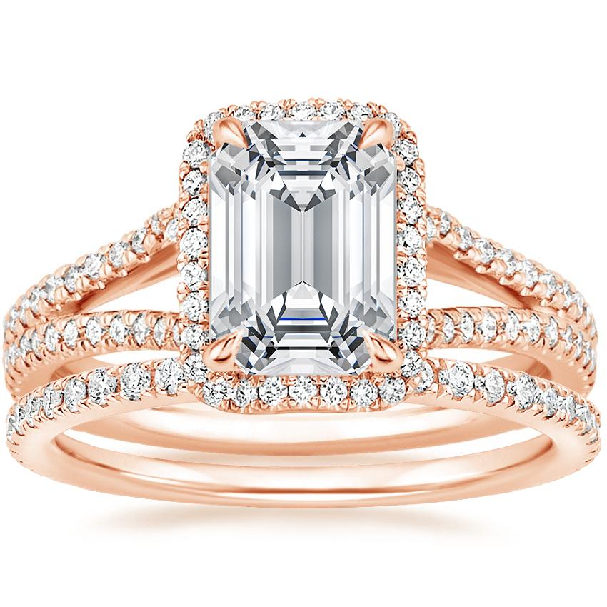 14K Rose Gold Fortuna Diamond Ring (1/2 ct. tw.) with Luxe Ballad Diamond Ring (1/4 ct. tw.)