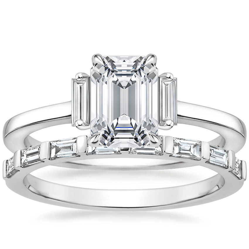 Platinum Piper Diamond Ring with Barre Diamond Ring (1/4 ct. tw.)