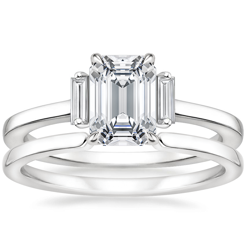 18K White Gold Piper Diamond Ring with Liv Ring