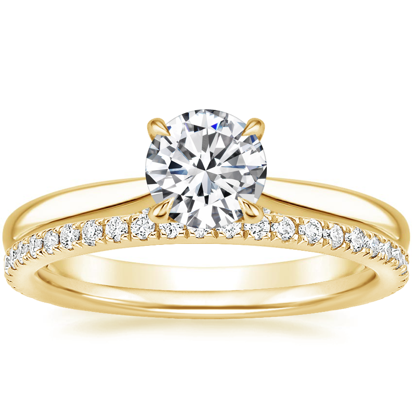 18K Yellow Gold Dawn Diamond Ring with Luxe Ballad Diamond Ring (1/4 ct. tw.)